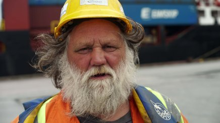 Clifford, a Newfoundland longshoremen in Argentia, Newfoundland.