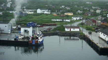 A view from the bridge of St. Anthony in Newfoundland