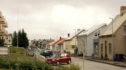 A neighborhood in Akureyri